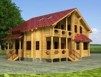 Дом из бревна №215Б