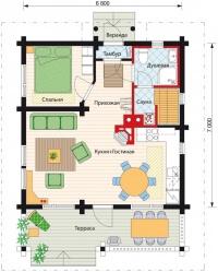 Дом из бревна №61Б