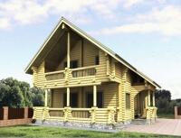 Дом из бревна №185Б